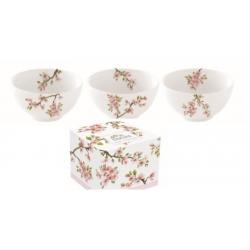 Porcelán tálka szett 3db-os 9,5cm - Sakura
