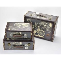 Bőrönd szett biciklis  3db/szett