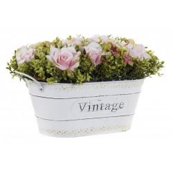 Vintage kaspó virággal