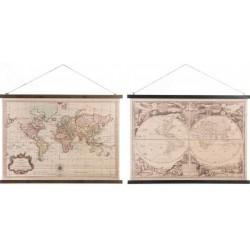 Vászon világtérkép 2 féle