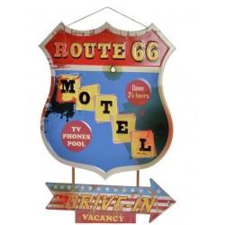 Fém dekoráció Route 66