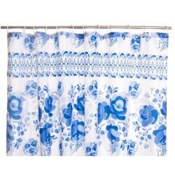 Zuhanyfüggöny kék virágos