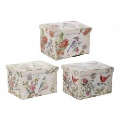 Tároló doboz madaras