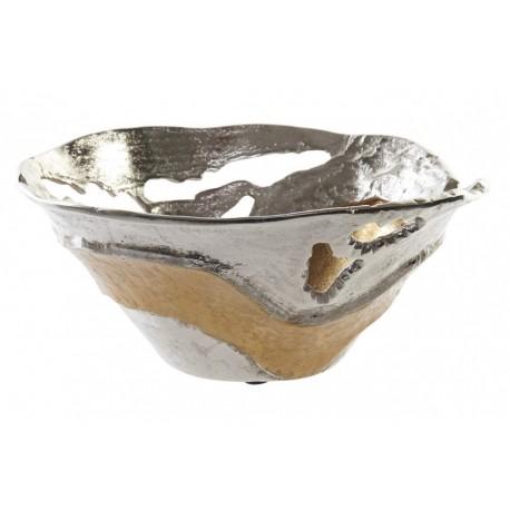 Kínáló tál, asztali ezüstözött