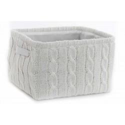 Textil tárolókosár fehér