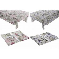 Asztalterítő + textil szalvéta szett - 8 db-os
