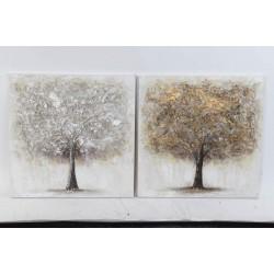 Vászon kép ezüst arany fa