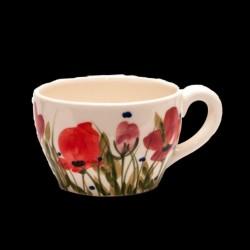 Kerámia kávés csésze - Vanilia Kerámia/Pipacsos