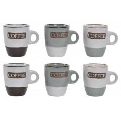 Eszpresszó kávés szett 6db