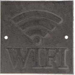 "Öntöttvas fali tábla ""Wifi"""