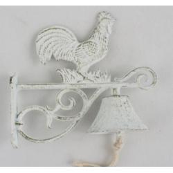 Öntöttvas fali kolomp - kakasos, Fehér antikolt