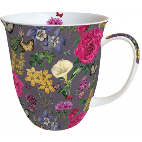 Porcelán bögre 0,4l - Botanic flowers