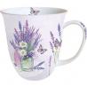 Porcelán bögre 0,4l - levendulás pillangós