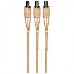 Bambusz olajfáklya 3 db-os szett