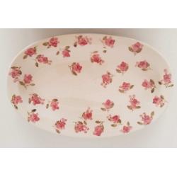 Kerámia kicsi ovál tál- Vanilia Kerámia / Violin apró rózsás