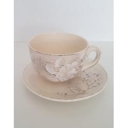 Kerámia jumbo csésze alj- Vanilia Kerámia