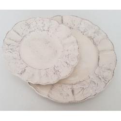 Kerámia lapostányér 26cm / Vanilia kerámia