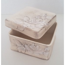 Kerámia doboz, kocka - Vanilia kerámia