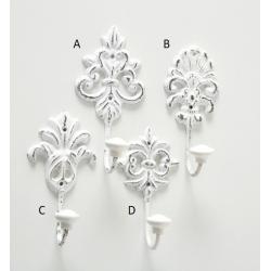 Öntöttvas falifogas antikolt fehér 4féle