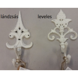 Öntöttvas falifogas antikolt fehér 2féle