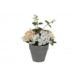 Virágcserép műnövény dekoráció