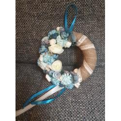 Ajtókopogtató 20cm , tavaszi kék