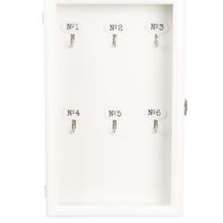 Kulcsos szekrény fehér