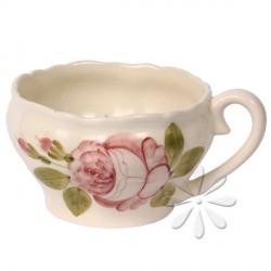 Kerámia teáscsésze - Vanilia Kerámia-Romantik rózsás