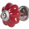 Ajtófogantyú 4cm fényes piros alátéttel