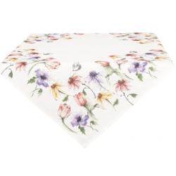 Asztalterítő 85x85cm - Színes virágos
