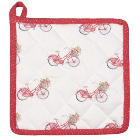 Edényalátét 20x20cm, piros biciklis