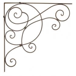 Fali konzol virágtartó - kovacsoltvas sarokdísz