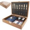 Fadobozos sakkjáték szett kártyával flaskával