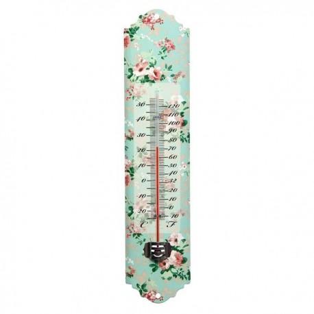 Hőmérő rózsa mintás