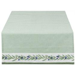 Asztali futó 50x140cm - zöld kockás