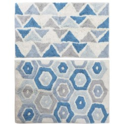 Szőnyeg 80x50cm, geometrikus kék