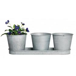 Cink vázák 3 db-os