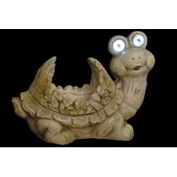Virágtartó figura Led-es teknős