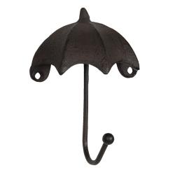 Fém falifogas - Esernyő formájú - fekete