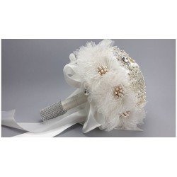 Esküvői csokor szatén rózsás exclusive