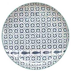 Porcelán lapostányér 27,5cm