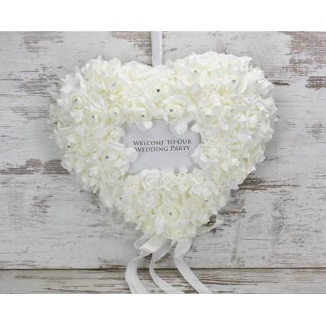 Esküvői dekoráció , üdvözlő szív