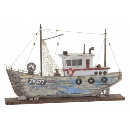 Hajó dekoráció Led-es fa