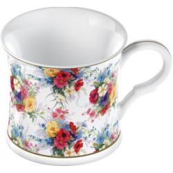 Porcelán bögre színes virágos 300ml