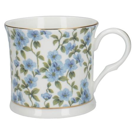 Porcelán bögre kék virágos 300ml
