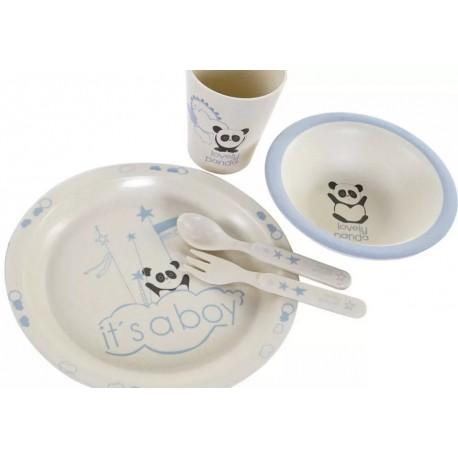 Gyermek étkészlet 5db-os Bambusz