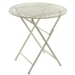 Kerti asztal fém, kerek