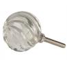 Ajtófogantyú 4 cm üveg