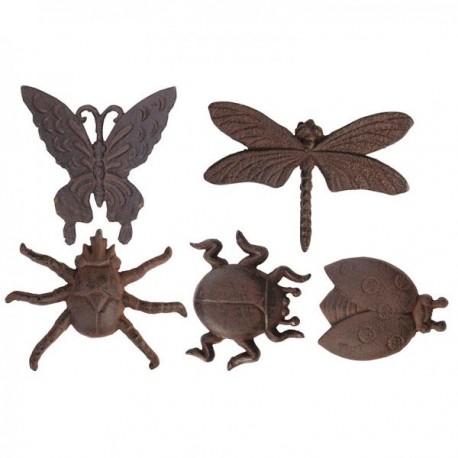 Faldekor , öntöttvas rovarok