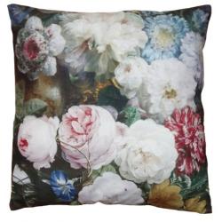 Textil párnahuzat virágos rózsás